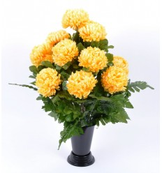 BV CHRYSANTHEME BOULE X14 + FOUGERES ASSORTI