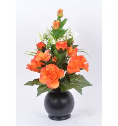 POT BOULE LONGIFLORUM ROSE BOUTON ORANGE
