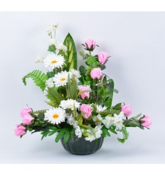 COUPE HORTICOLE 25 CM POMMIER/COSMOS/GERBERA BEAUTY