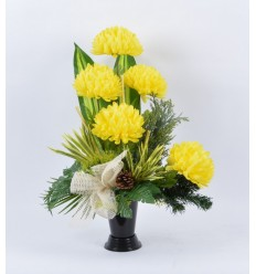 BOUQUET VASE CHRYSANTHEME