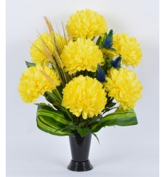BOUQUET VASE CHRYSANTHEME GM