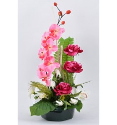 PLATEAU MARGUERITE ROSE ORCHIDEE
