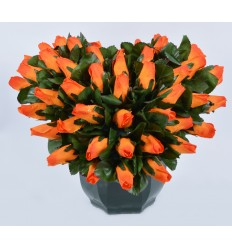 COEUR DE 20 CM MINI BOUTON SUR COUPE OCEA ORANGE