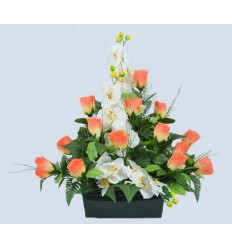 JARDINIERE 25 CM BOUTON ORCHIDEE