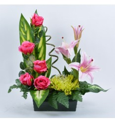 JARDINIERE 25 CM LYS ROSE BEAUTY PINK