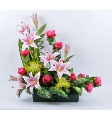 JARDINIERE 40 CM LYS ROSE BEAUTY PINK