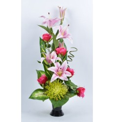 BOUQUET VASE LYS ROSE BEAUTY PINK