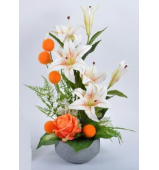 VASQUE BETON LYS ROSE BOULE ORANGE