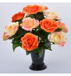 BOUQUET DE VASE ROSE GOUTTE D'EAU ASS