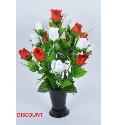 BOUQUET DE VASE DISCOUNT ROSE X18 COLORIS ASSORTIS