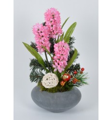 COUPE RONDE JACINTHE SAPIN PICK NOEL PINK