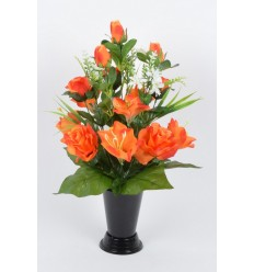 BOUQUET DE VASE LONGIFLORUM ROSE BOUTON ASSORTI