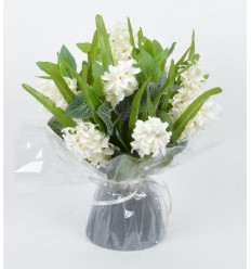 BOUQUET BULLE JACINTHE CREAM
