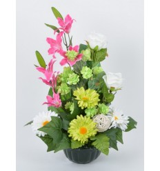 HORTICOLE 17 CM HOUBLON LILY PINK/GREEN/WHITE