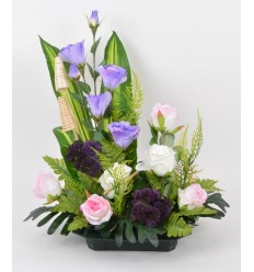 COUPE CARREE LYSIANTHUS ROSE LILAC
