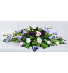 COUSSIN 30 CM LYSIANTHUS ROSE LILAC