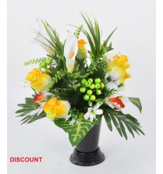 BOUQUET DE VASE ARUM ORCHIDEE ASS