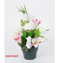 POT DISCOUNT 12 CM ASLTRO ROSE HERBE ANGE ASSIS ASSORTI