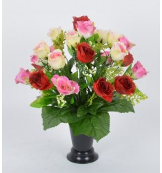 BOUQUET DE VASE ROSE GYPSOPHILLE ASSORTI