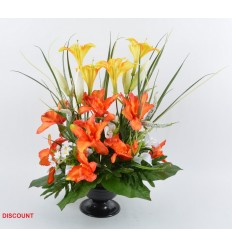 COUPE/PIED DISCOUNT ORCHIDEE LYS ARUM ASSORTI