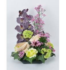 PLATEAU CARRE TOKIO ORCHIDEE LILAC GREEN