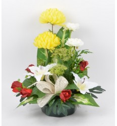 COUPE MARGUERITE CHRYSANTHEME RENONCULE BEAUTY PINK