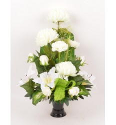 BOUQUET DE VASE CHRYSANTHEME RENONCULE BEAUTY PINK