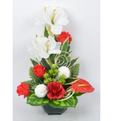 OCEA 20 CM AMARYLLIS ANTHURIUM ROSE RED