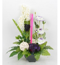 OCEA 17 CM JACINTHE EGLANTINE CREAM PURPLE BLACK