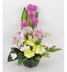 OCEA 20 CM ORCHIDEE MAGNOLIA ALLIUM CREAM PURPLE