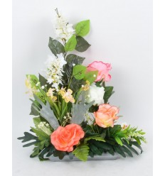 RECTANGLE PM LILAS ROSE ORCHIDEE SALMON