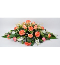 COUSSIN LILAS ROSE ORCHIDEE SALMON