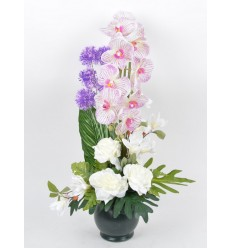 POT VICTORIA ORCHIDEE MAGNOLIA ALLIUM CREAM PURPLE