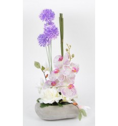 COEUR BETON ORCHIDEE MAGNOLIA ALLIU CREAM PURPLE