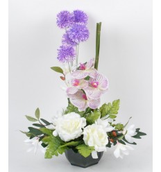OCEA 17 CM ORCHIDEE MAGNOLIA ALLIUM CREAM PURPLE