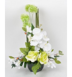 OCEA 17 CM ORCHIDEE MAGNOLIA ALLIUM GREEN CREAM