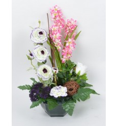OCEA 20 CM JACINTHE EGLANTINE CREAM PURPLE BLACK