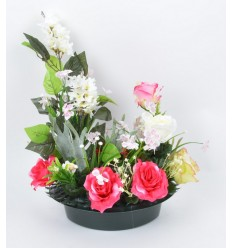 COUPE HARICOT LILAS ROSE ORCHIDEE SALMON