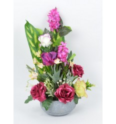 COUPE RONDE + BETON LILAS ROSE ORCHIDEE SALMON