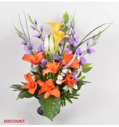 COUPE SUR PIED GLAIEUL ORCHIDEE X26 TIGES ASS