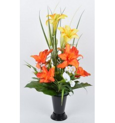 BOUQUET DE VASE ORCHIDEE LYS ASSORTI
