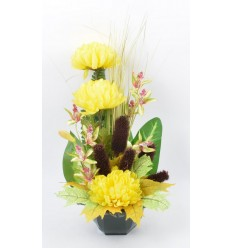OCEA 17 CM CHRYSANTHE ORCHIDEE YELLOW