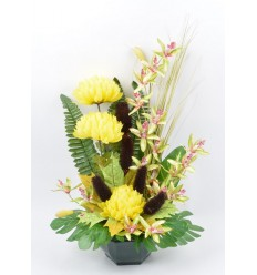 OCEA 20 CM CHRYSANTHEME ORCHIDEE YELLOW