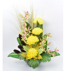 OCEA 25 CM CHRYSANTHEME ORCHIDEE YELLOW
