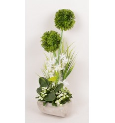 COEUR ALLIUM OMBRELLE ACHILLEA CREAM GREEN