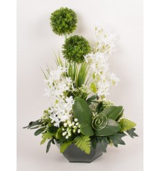 OCEA 25 CM ALLIUM OMBRELLE ARCHILLEA CREAM GREEN