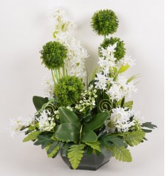 OCEA 30 CM ALLIUM OMBRELLE ACHILLEA CREAM GREEN