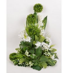 DEVANT DE TOMBE PM ALLIUM OMBRELLE ACHILLEA CREAM GREEN