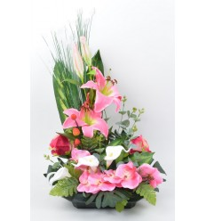 COUPE CARREE LYS ARUM ROSE ORCHIDEE LIGHT PINK DARK PINK