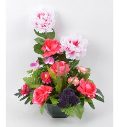OCEA 20 CM PIVOINE ORCHIDEE WILD BERRY LIGHT PINK DARK PINK